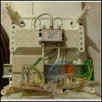 Etat actuel de mon installation avec quelques câbles sertis, correspondant aux prises murales