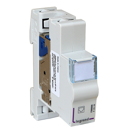 Connecteur RJ45, Cat6a, blindé FTP, à clipser sur rail DIN, Legrand