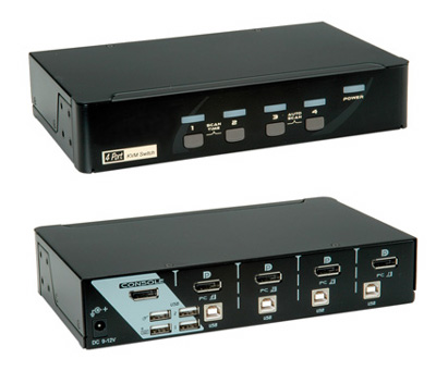 KVM, DisplayPort, USB, audio, Roline