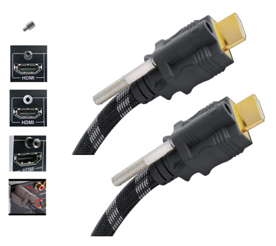 Câble HDMI, High speed, SafeLock double, Innovation, Real Cable