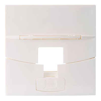 Plastron RJ45 simple, 45 x 45 mm, Volition