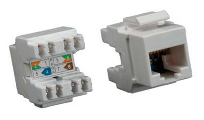Connecteur et prise rj45 dans cordon et c ble rj45 par for Fiche rj45 sans pince