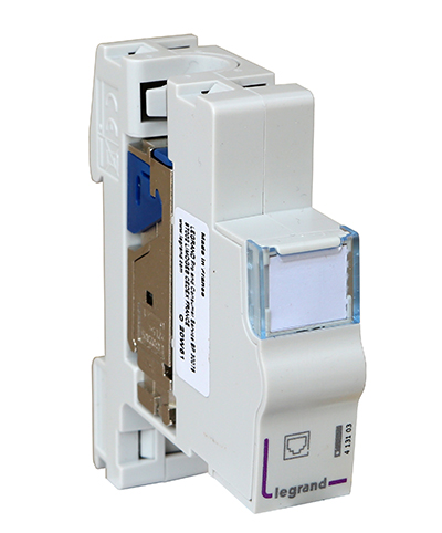 Connecteur RJ45, Cat6, blindé FTP, à clipser sur rail DIN, Legrand