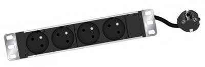 pdu bandeau de prises pour coffret 10 pouces sans interrupteur tlc par. Black Bedroom Furniture Sets. Home Design Ideas