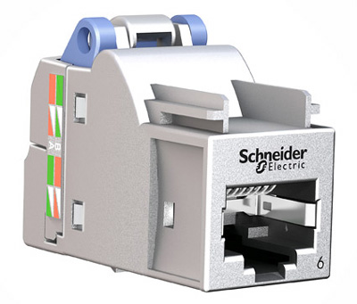 Connecteur RJ45 Cat6, blindé, Schneider-Infraplus, S-One