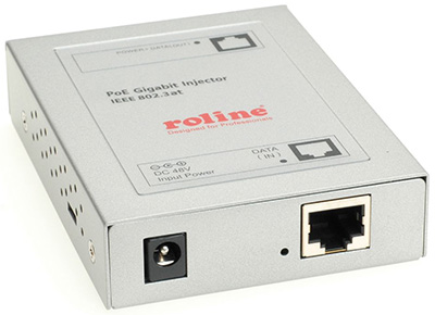 Injecteur PoE, Power over Ethernet, 10/100, 15,4 W, Roline