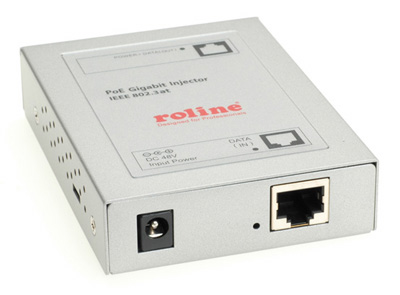 Injecteur PoE, Power over Ethernet, Gigabit 10/100/1000, 30 W, Roline