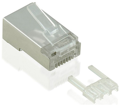 Prise RJ45 mâle, Cat6, Blindée (FTP), Value