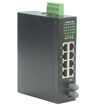 Switch industriel RJ45 10/100 + Multimode ST, non administrable, Roline