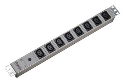 pdu bandeau de prises pour baie 19 pouces 8 x c13 branchement c14 disjoncteur par. Black Bedroom Furniture Sets. Home Design Ideas